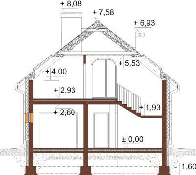 Projekt domu DM-6568 - przekrój