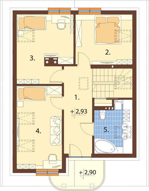 Projekt domu L-6568 - rzut