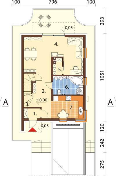 Projekt domu DM-6594 - rzut