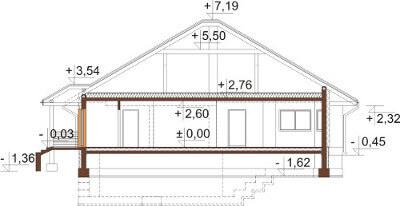 Projekt domu DM-6584 - przekrój