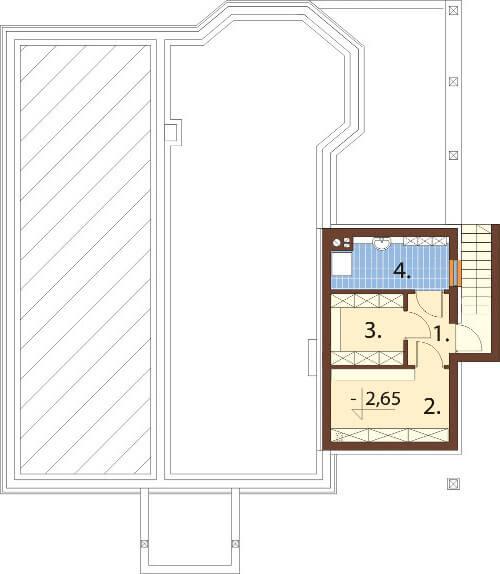 Projekt domu L-6584 - rzut