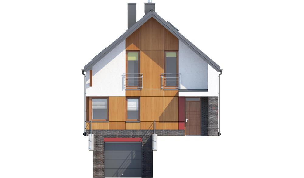 Projekt domu L-6594 - elewacja
