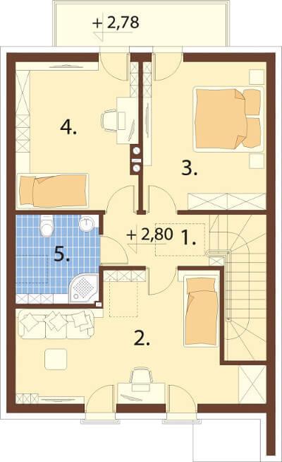 Projekt domu L-6594 - rzut