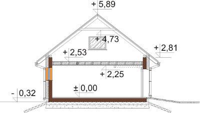 Projekt domu DM-6581 - przekrój
