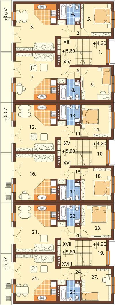 Projekt domu DM-6590 - rzut