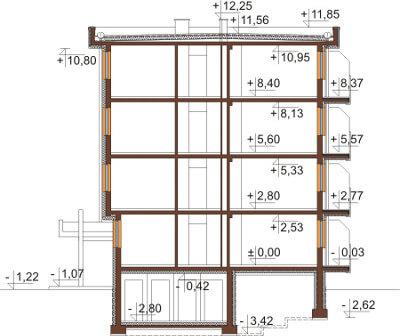 Projekt domu DM-6590 - przekrój