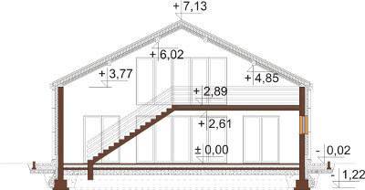 Projekt domu DM-6569 - przekrój