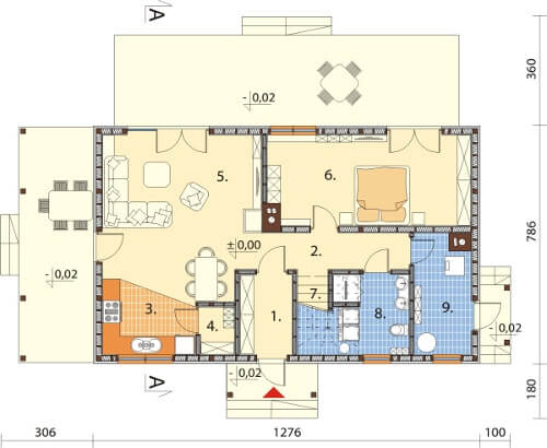 Projekt domu DM-6585 - rzut