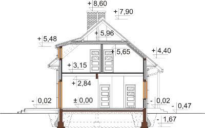 Projekt domu DM-6585 - przekrój