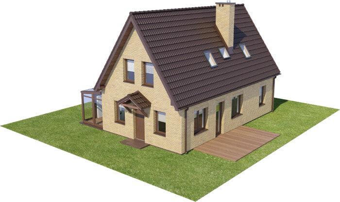 Projekt domu DM-6580 - model