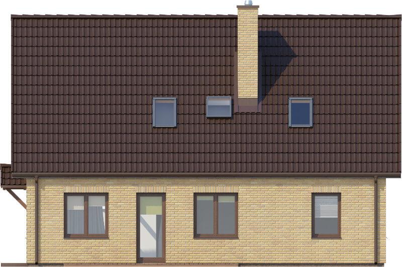 Projekt domu DM-6580 - elewacja