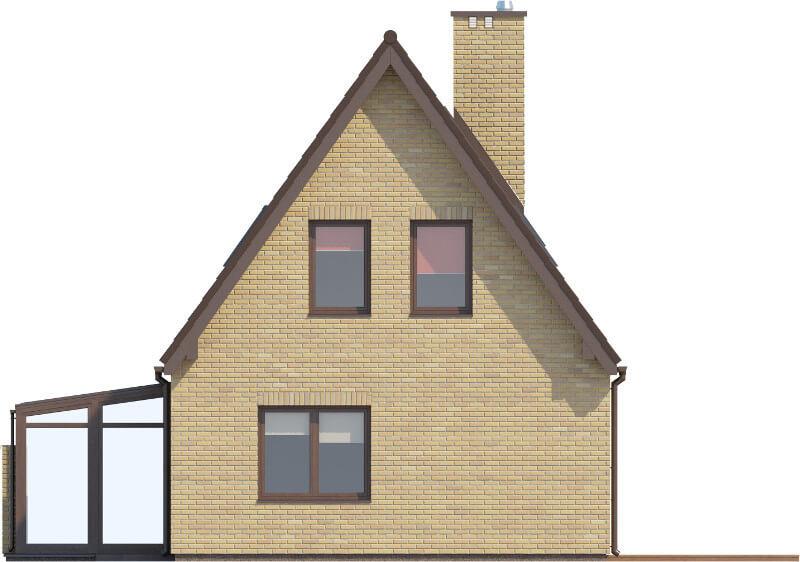 Projekt domu L-6580 - elewacja