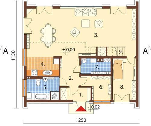 Projekt domu L-6569 - rzut
