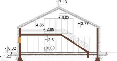 Projekt domu L-6569 - przekrój