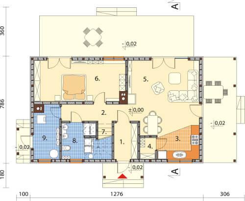 Projekt domu L-6585 - rzut