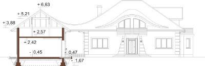 Projekt domu DM-6587 - przekrój