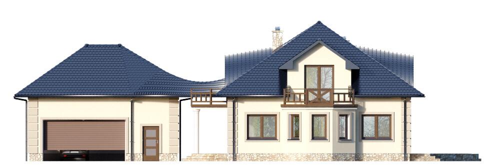 Projekt domu DM-6587 - elewacja