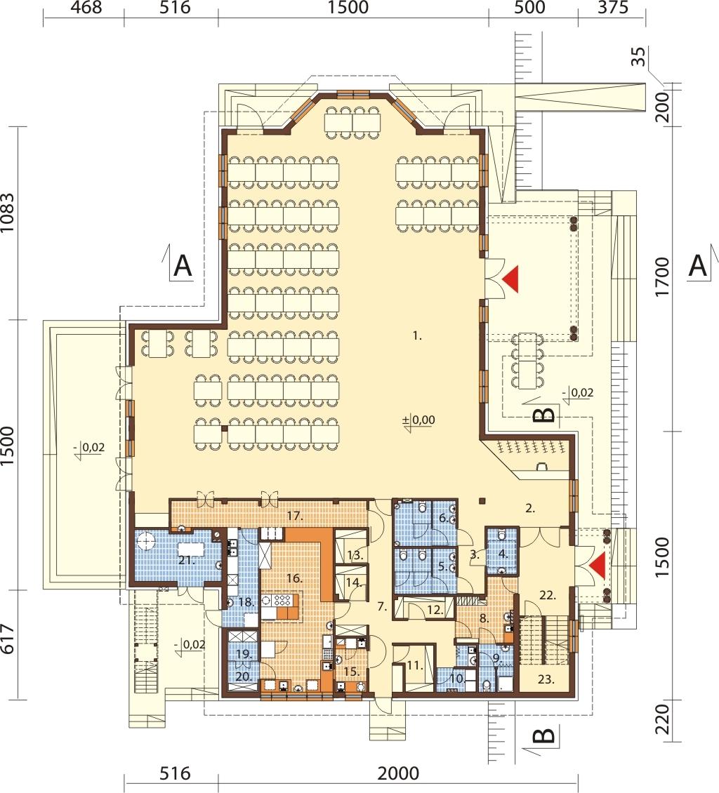 Projekt Budynek Gastronomiczny Z Zapleczem Noclegowym K 86