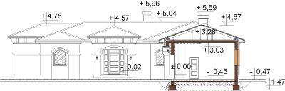 Projekt domu DM-6595 - przekrój