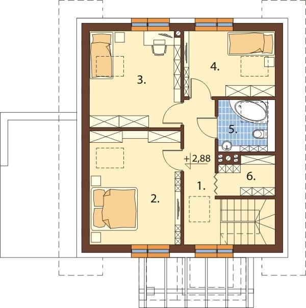 Projekt domu DM-6592 - rzut