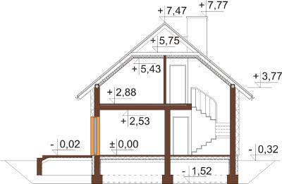 Projekt domu DM-6592 - przekrój