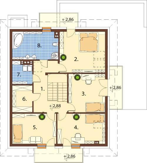 Projekt domu DM-6553 - rzut