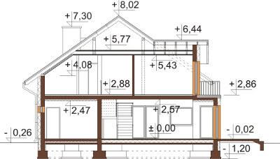 Projekt domu DM-6553 - przekrój