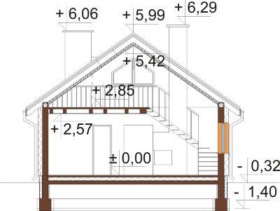 Projekt domu DM-6596 - przekrój