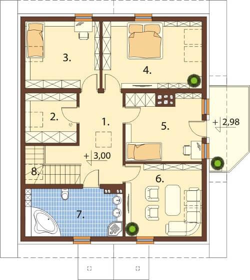 Projekt domu DM-6547 - rzut