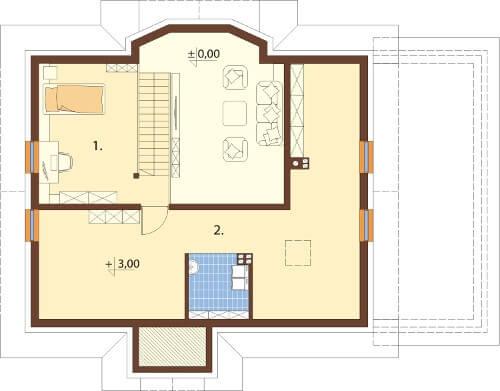 Projekt domu DM-6565 - rzut