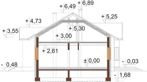 Projekt domu DM-6565 - przekrój
