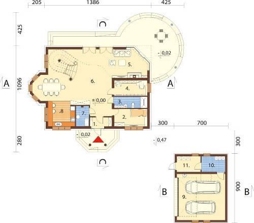Projekt domu L-6587 - rzut
