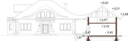 Projekt domu L-6587 - przekrój