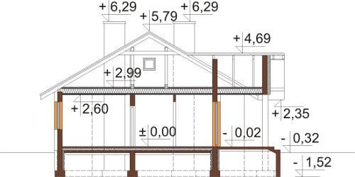 Projekt domu DM-6583 - przekrój
