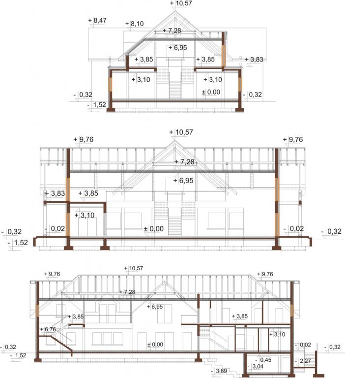 Projekt K-87 - przekrój
