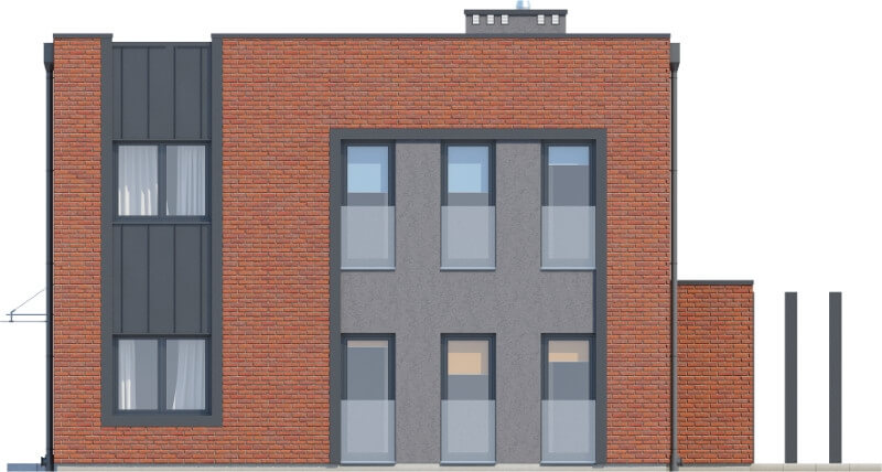 Projekt domu DM-6589 - elewacja