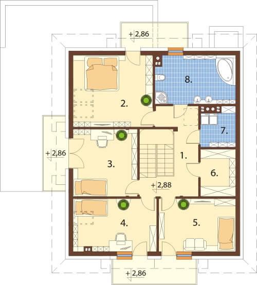 Projekt domu L-6553 - rzut