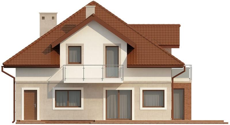 Projekt domu L-6553 - elewacja