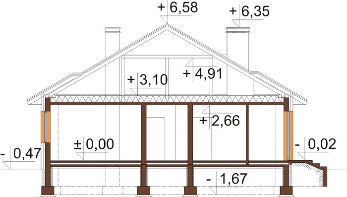 Projekt domu DM-6209 - przekrój