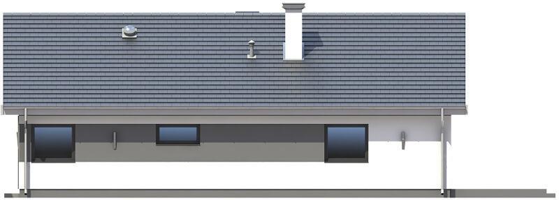 Projekt domu L-6596 - elewacja