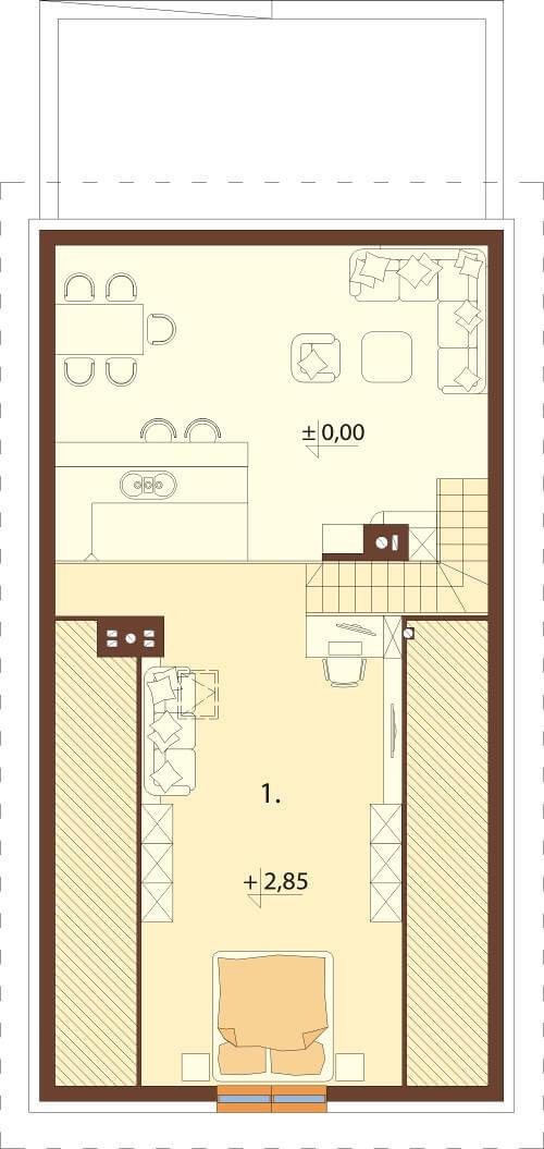 Projekt domu L-6596 - rzut