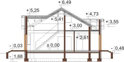 Projekt domu L-6565 - przekrój
