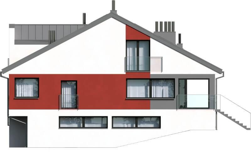 Projekt domu DM-6504 - elewacja
