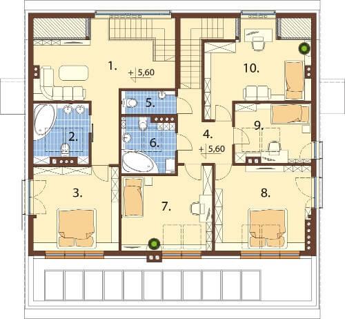 Projekt domu DM-6504 - rzut