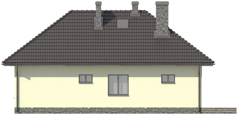 Projekt domu DM-5594 N - elewacja