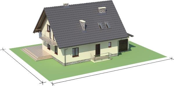 Projekt domu DM-6006 N - model