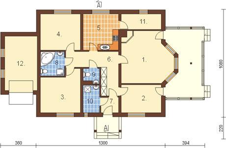 Projekt domu DM-6210 - rzut