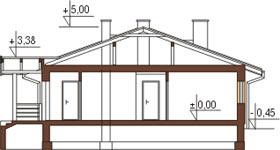 Projekt domu DM-6210 - przekrój
