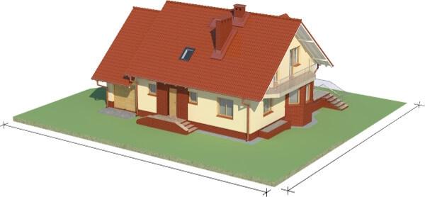 Projekt domu DM-6040 N - model