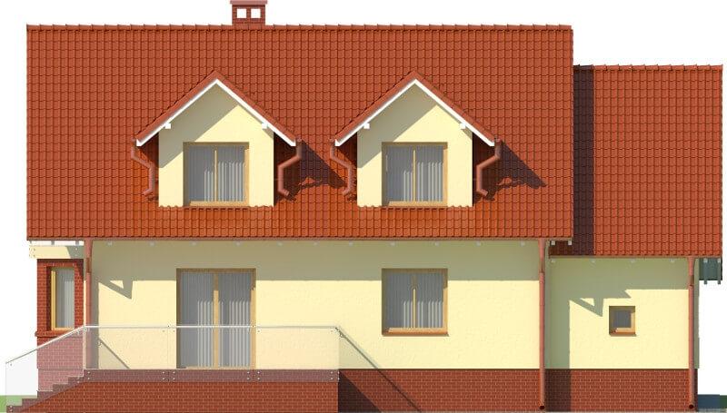 Projekt domu DM-6040 N - elewacja
